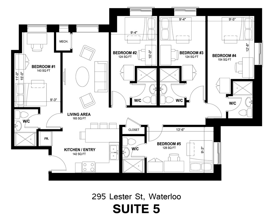 295 Lester Street - Suite #5 Layout