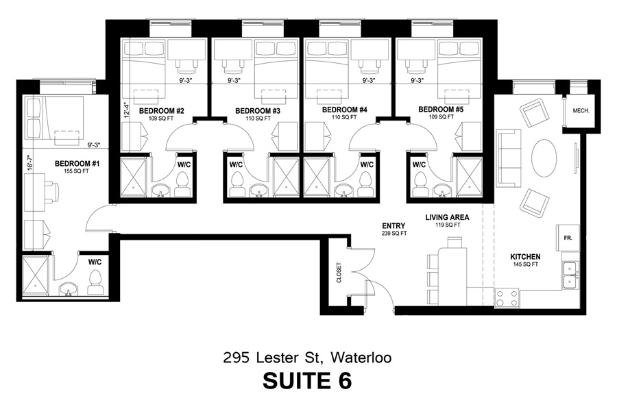 295 Lester Street - Suite #6 Layout